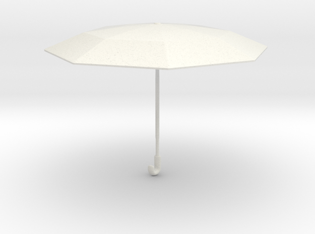 1/8 Asian Umbrella for Figurines/Diorama in White Natural Versatile Plastic