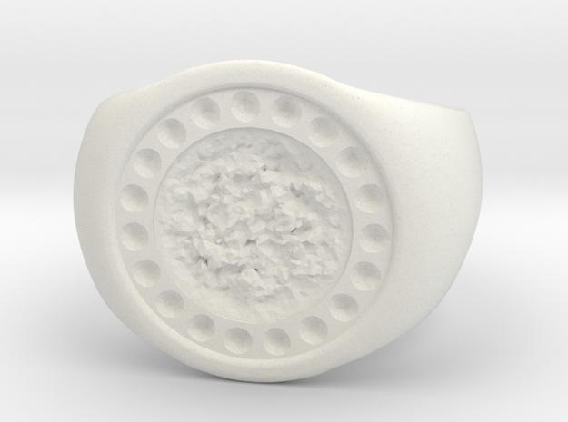 Joker's Circle Ring - Plastics in White Natural Versatile Plastic: 7 / 54