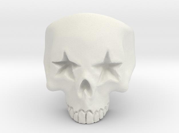 Joker's Star-Eyes Skull Ring - Plastics in White Natural Versatile Plastic: 7 / 54