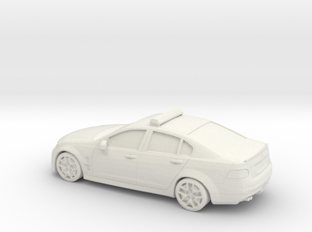 1/56 Holden Commodore Australian Police in White Natural Versatile Plastic