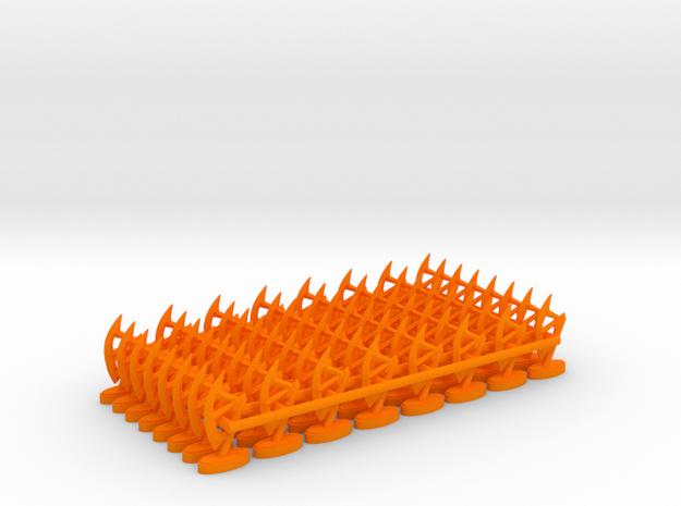Play Figure Dwarf / Axe in Orange Processed Versatile Plastic