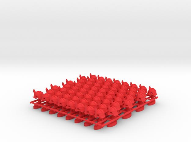 Play Figure Ork / Helmet in Red Processed Versatile Plastic