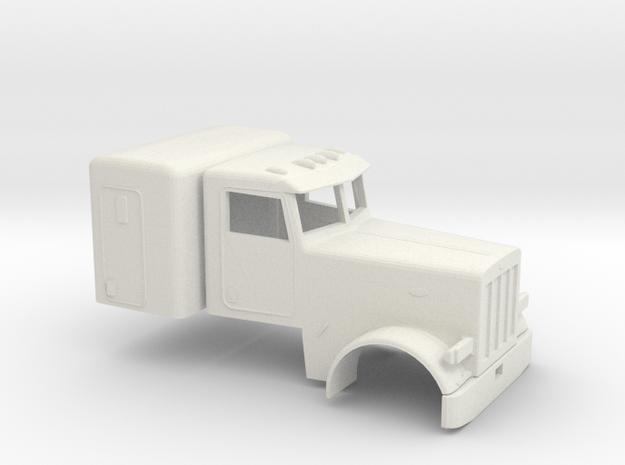 1/50 Peterbilt 379 Cab and Sleeper in White Natural Versatile Plastic
