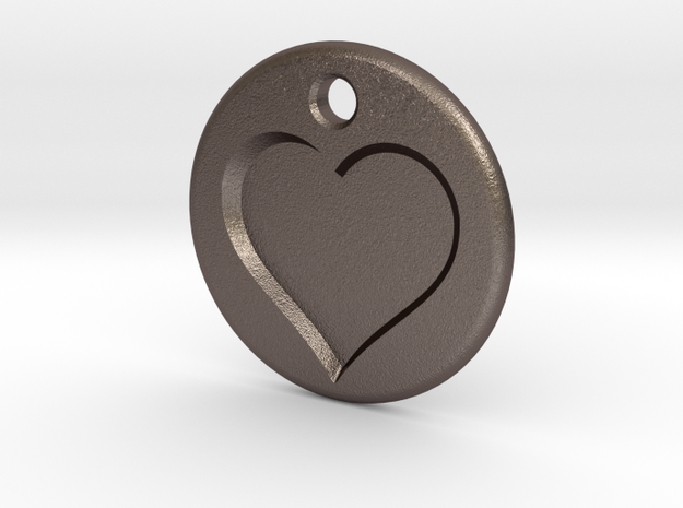 Inset Heart Pendent