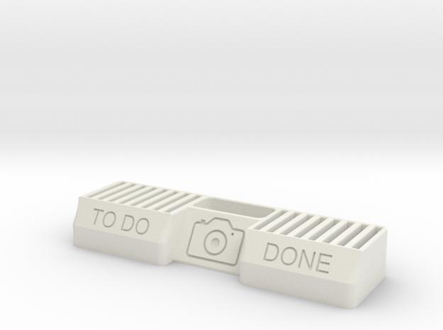 SD Card Holder Small in White Natural Versatile Plastic