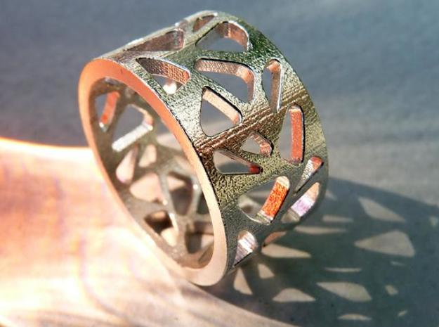 September Ring (19.5 mm) in Polished Bronzed Silver Steel