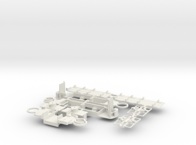 Fahrgestell GT8SU in White Natural Versatile Plastic
