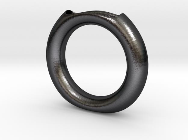 Halo vase in Polished and Bronzed Black Steel