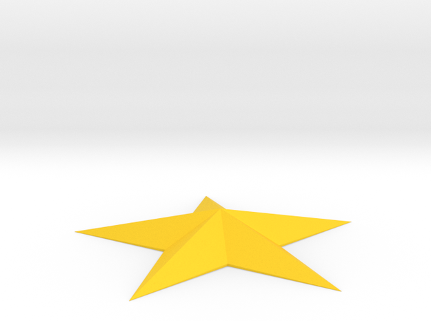 5 Point Star Spike in Yellow Strong & Flexible Polished