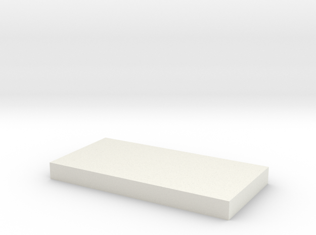 50x25 Rectangle in White Natural Versatile Plastic