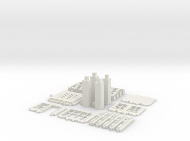 Architecture set (Test Acc) in White Natural Versatile Plastic