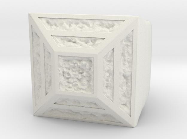 Joker's Pyramid Ring - Plastics in White Natural Versatile Plastic: 7 / 54
