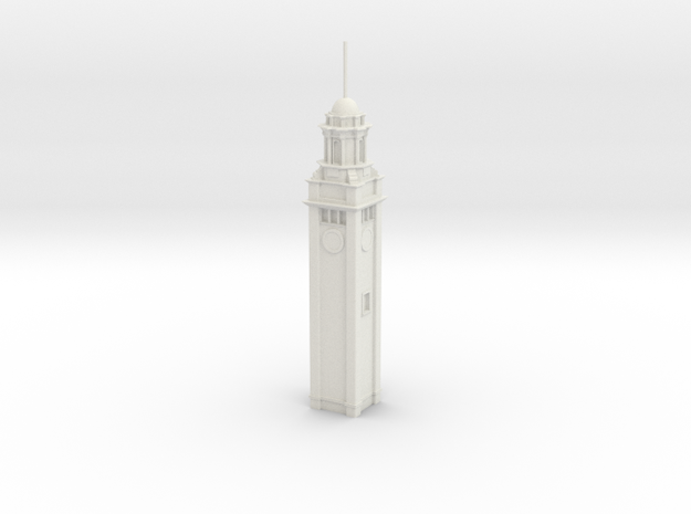 HK_Clock_Tower (Test Acc) in White Natural Versatile Plastic