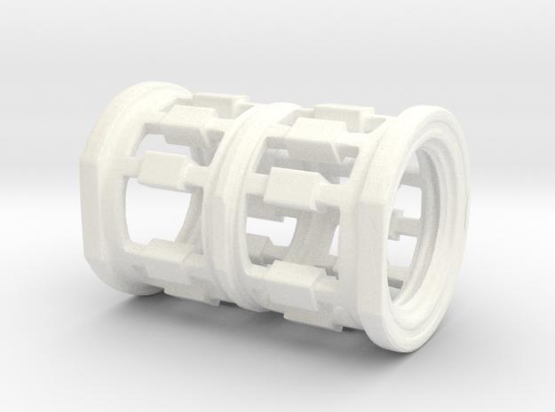 Human Spacestation in White Processed Versatile Plastic