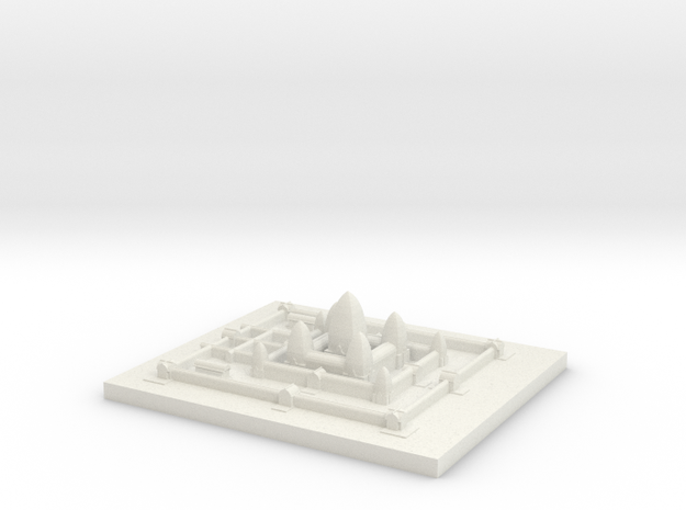 Angkor_Wat (Test Acc) in White Natural Versatile Plastic