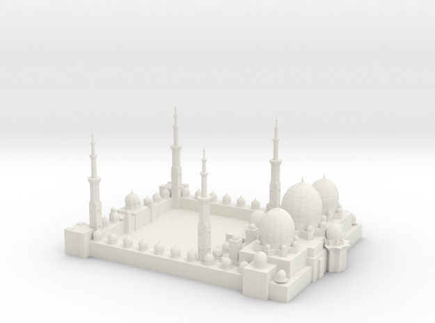 Sheikh Zayed Mosque (Test Acc) in White Natural Versatile Plastic
