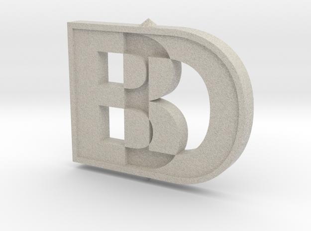 Black Dog Engineering 3D Logo in Natural Sandstone