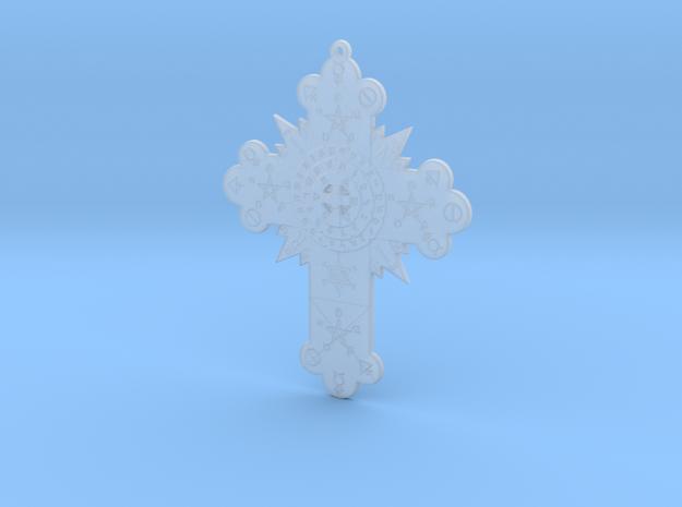 GD Rose Cross Lamen in Smooth Fine Detail Plastic: Medium