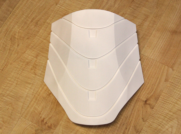 Iron Man Mark IV Abdominal Plate 3d printed Actual 3D print using the Strong and Flexible Plastic