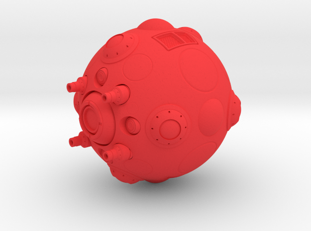 Kzin Small Fighter in Red Processed Versatile Plastic