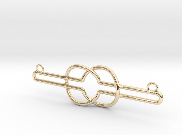 Nyansapo - Wisdom Knot in 14K Yellow Gold