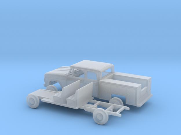 1/160 1966/67 Dodge PowerWagon Crew Utility Kit in Smooth Fine Detail Plastic