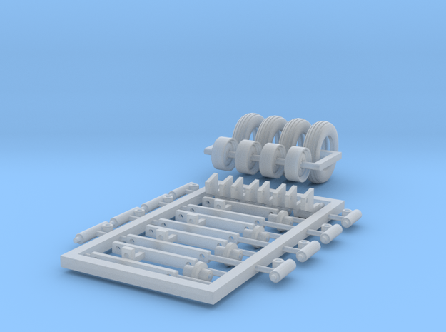 1/64 Corn Planter Tires and Lifts in Smooth Fine Detail Plastic