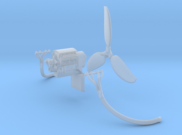 Airboat in 1/87 - Part 2: Engine, prop, exhaust