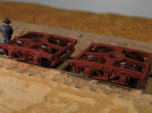 T30b 8 N wood beam trucks, Civil War USMRR, Bach 3d printed