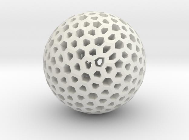 Polyhedron Pendant IV in White Natural Versatile Plastic