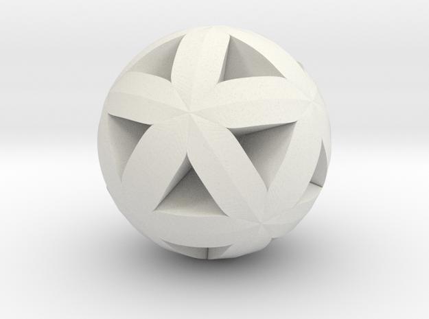 Trigonometric Pendant V in White Natural Versatile Plastic