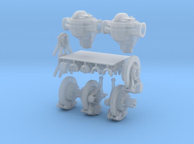 1-18_dana_44_axle_set in Smooth Fine Detail Plastic