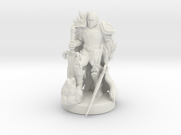 Antipaladin with Dual Massive Swords in White Natural Versatile Plastic