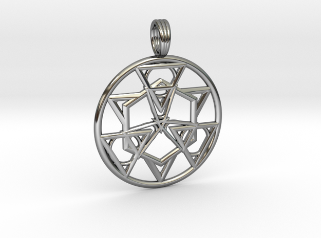 HOLY SYMMETRY in Fine Detail Polished Silver