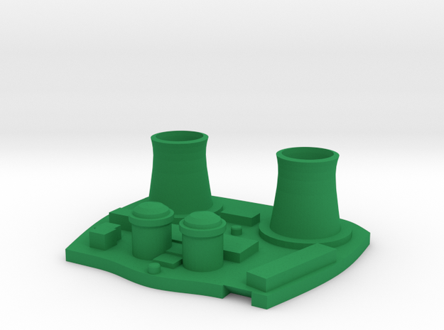 Power Plant - Nuclear, Fossil in Green Processed Versatile Plastic: Medium