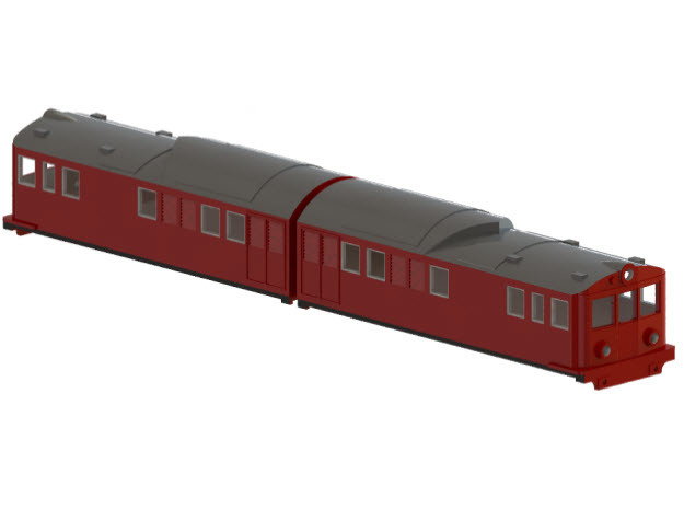 Swedish SJ electric locomotive type Of with steel  in Smooth Fine Detail Plastic