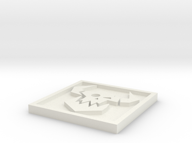 Ork_Icon_20mm in White Natural Versatile Plastic