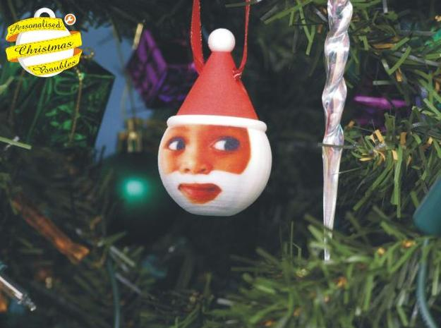 Father Christmas Bauble (Personalize) 3D printed 3d printed Ho Ho Ho