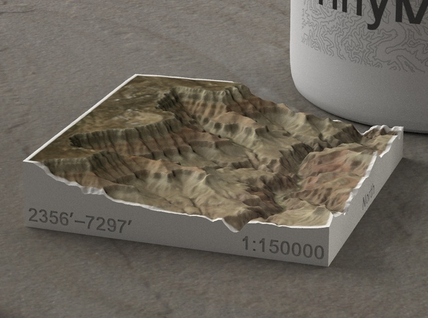 South Rim Grand Canyon, Arizona, 1:150000 Explorer in Full Color Sandstone