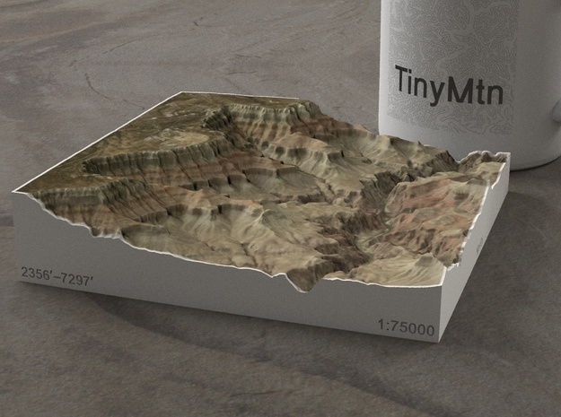 South Rim Grand Canyon, Arizona, 1:75000 Explorer in Full Color Sandstone