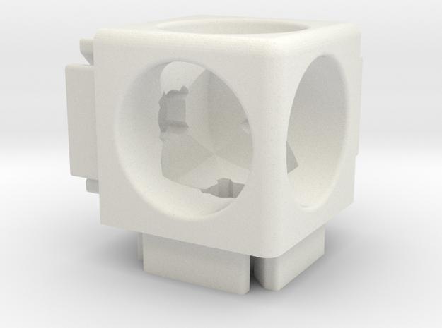 Corner Connector B6-20 in White Natural Versatile Plastic