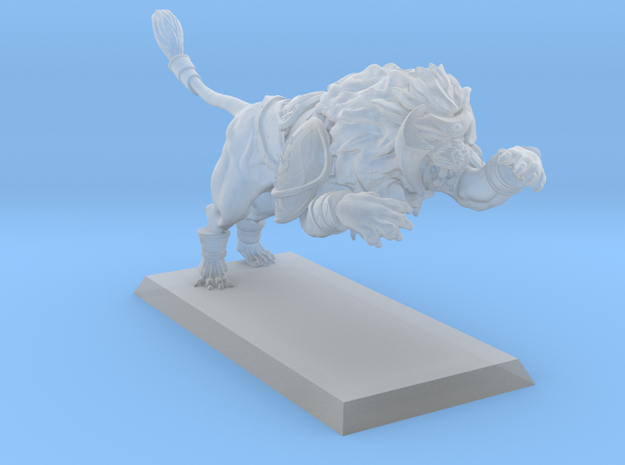 Lion 28mm in Smooth Fine Detail Plastic