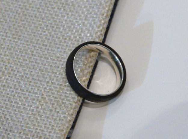 Outer ring for DIY bicolor ring in Matte Black Steel