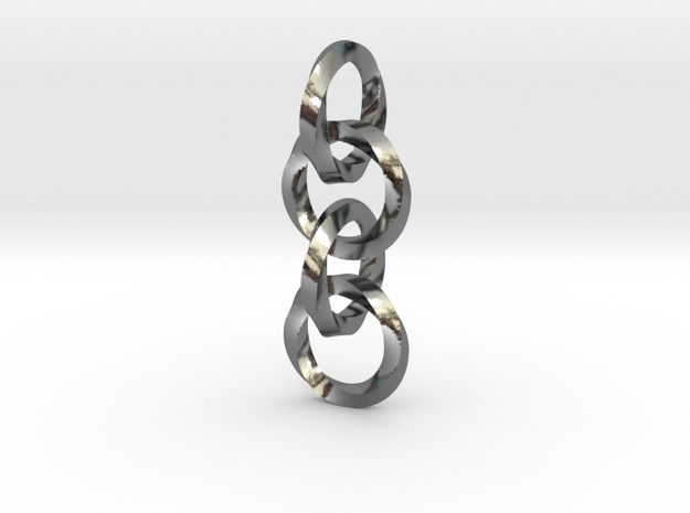 Interlocked twisted rings chain (earrings or penda