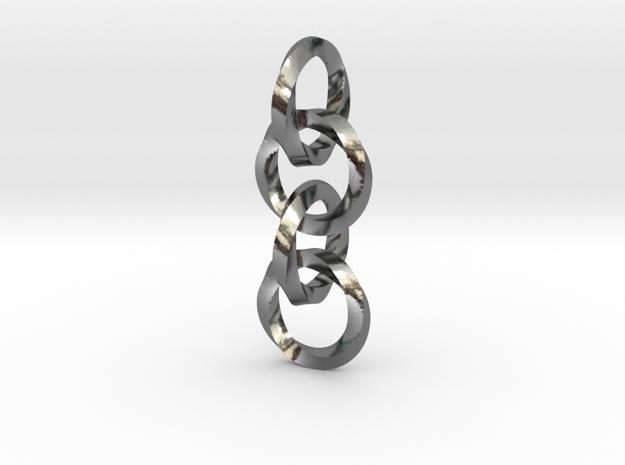 Interlocked twisted rings chain (earrings or penda