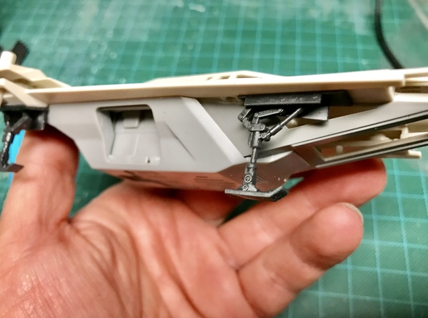 U-Wing Landing Gear for Revell  in Smooth Fine Detail Plastic