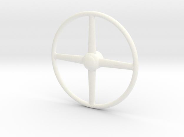 40 Ford 1/8 truck steering wheel in White Processed Versatile Plastic