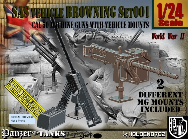 1/24 Browning cal 50 M2 set001 in Frosted Ultra Detail