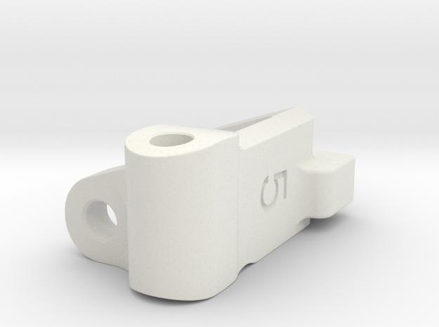 Five Seven Designs Plus 5 Right Front Caster Block in White Natural Versatile Plastic