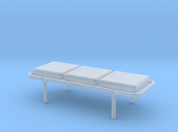 Waffle House 3 Cushion Bench HO 87:1 Scale in Smooth Fine Detail Plastic